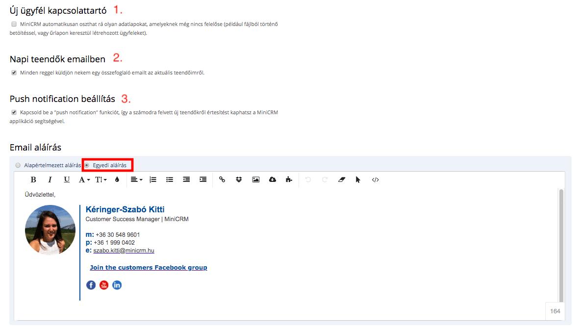 Email aláírás