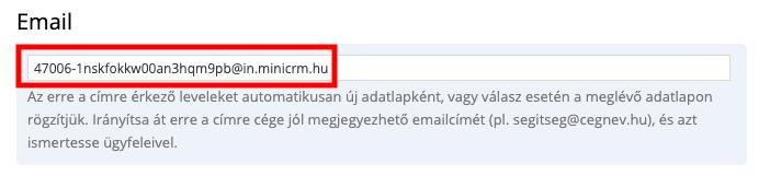 Bejövő email feldolgozó