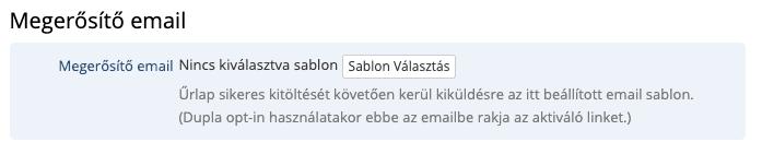 Űrlap megerősítő email